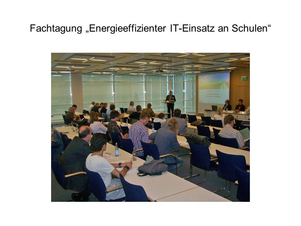 """Fachtagung """"Energieeffizienter IT-Einsatz an Schulen"""