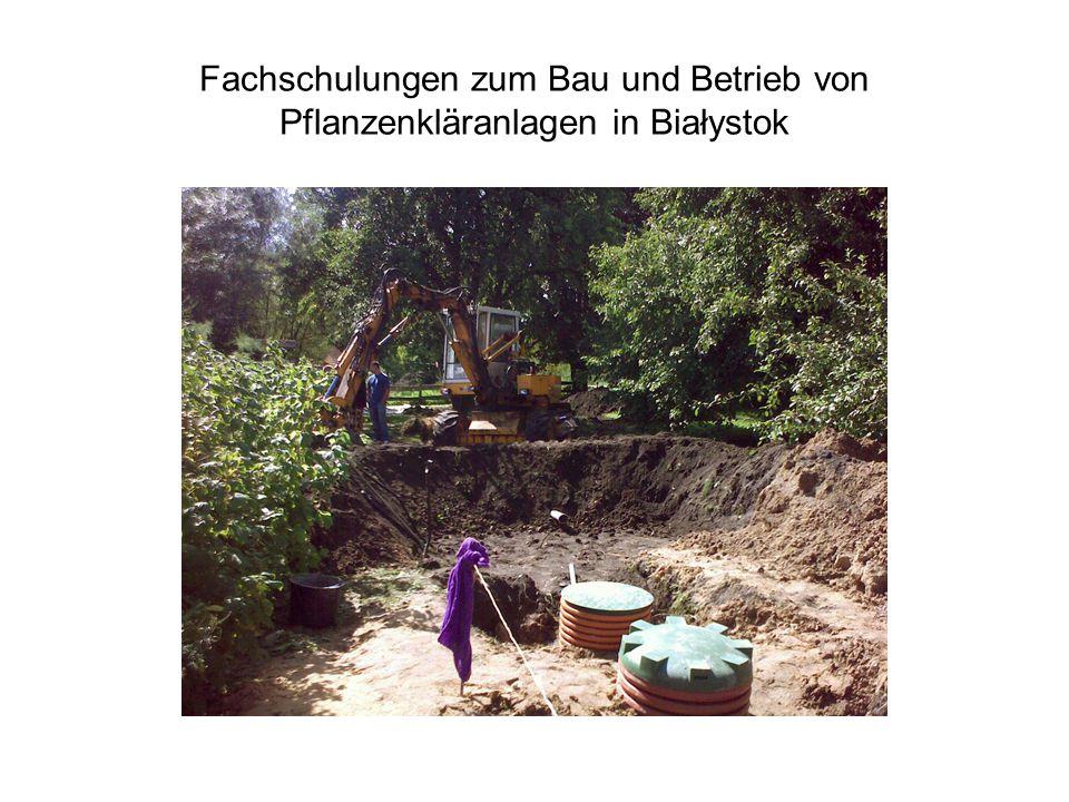Fachschulungen zum Bau und Betrieb von Pflanzenkläranlagen in Białystok
