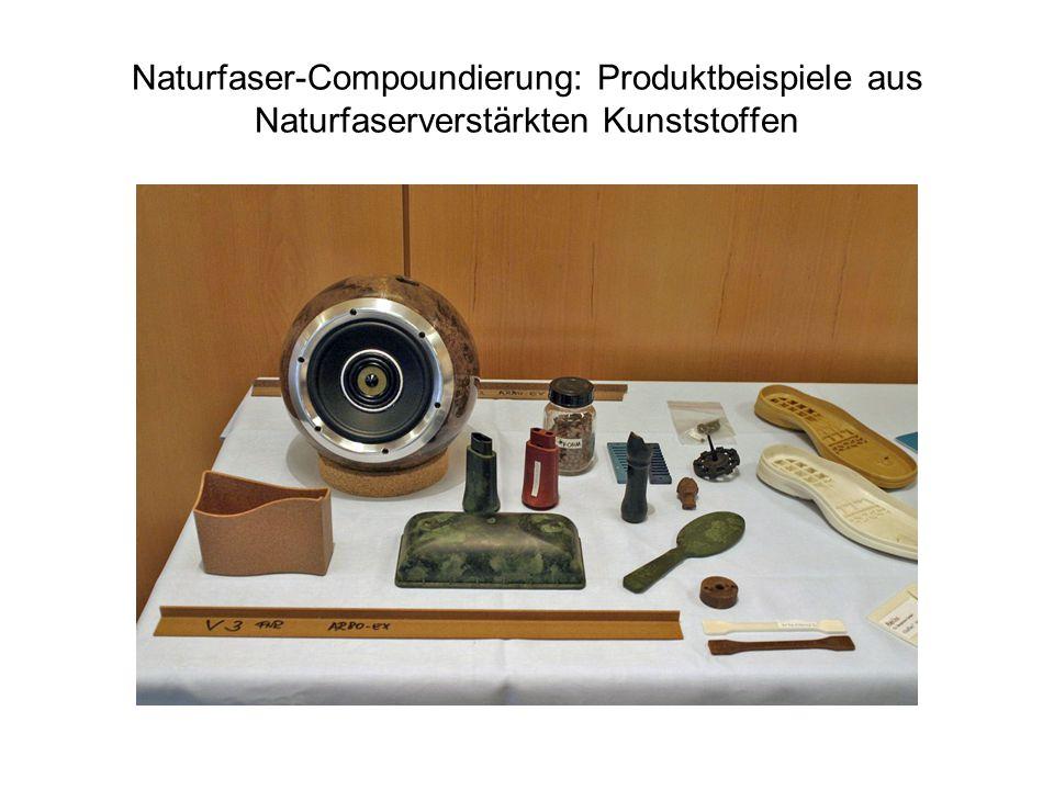 Naturfaser-Compoundierung: Produktbeispiele aus Naturfaserverstärkten Kunststoffen