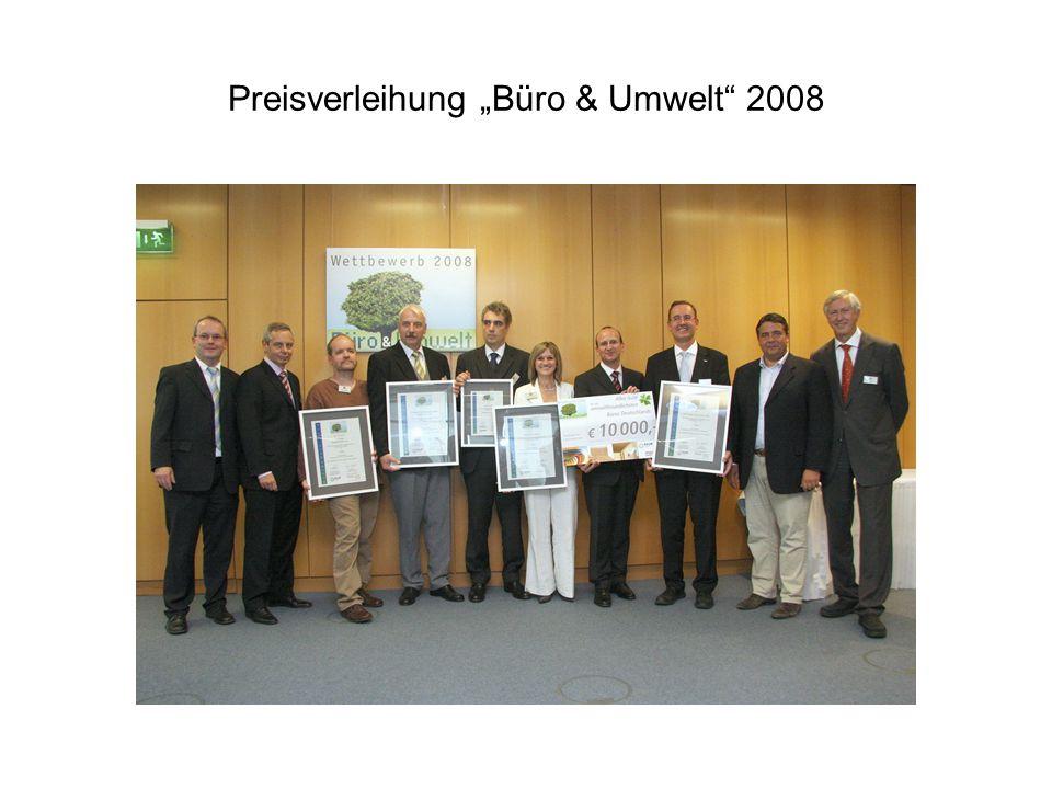 """Preisverleihung """"Büro & Umwelt 2008"""