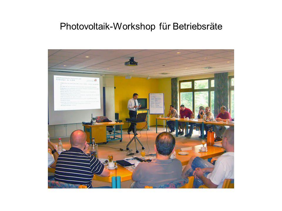 Photovoltaik-Workshop für Betriebsräte