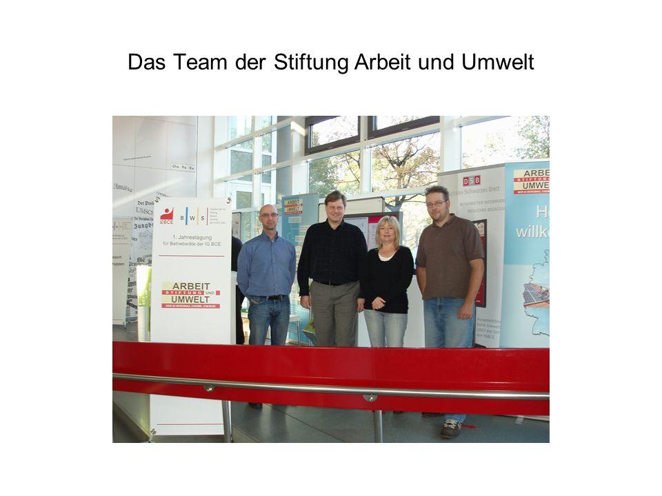 Das Team der Stiftung Arbeit und Umwelt