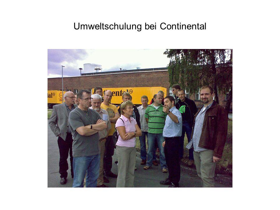 Umweltschulung bei Continental