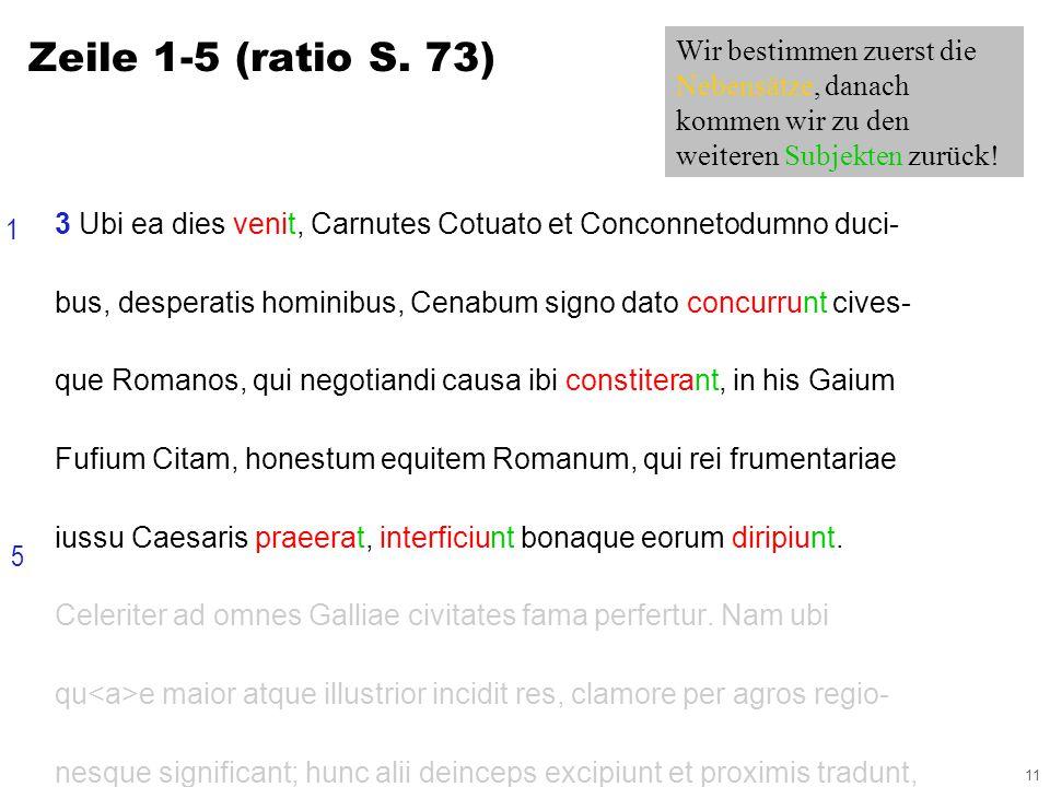 11 3 Ubi ea dies venit, Carnutes Cotuato et Conconnetodumno duci- bus, desperatis hominibus, Cenabum signo dato concurrunt cives- que Romanos, qui negotiandi causa ibi constiterant, in his Gaium Fufium Citam, honestum equitem Romanum, qui rei frumentariae iussu Caesaris praeerat, interficiunt bonaque eorum diripiunt.