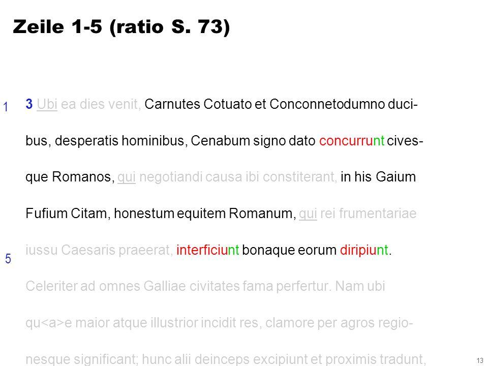 13 3 Ubi ea dies venit, Carnutes Cotuato et Conconnetodumno duci- bus, desperatis hominibus, Cenabum signo dato concurrunt cives- que Romanos, qui negotiandi causa ibi constiterant, in his Gaium Fufium Citam, honestum equitem Romanum, qui rei frumentariae iussu Caesaris praeerat, interficiunt bonaque eorum diripiunt.