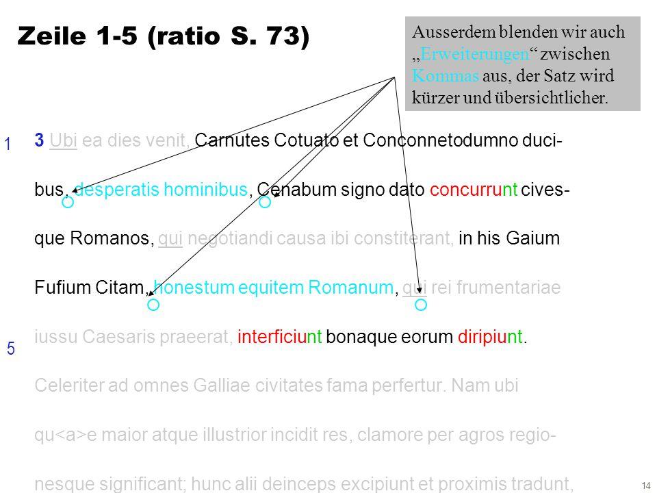 14 3 Ubi ea dies venit, Carnutes Cotuato et Conconnetodumno duci- bus, desperatis hominibus, Cenabum signo dato concurrunt cives- que Romanos, qui negotiandi causa ibi constiterant, in his Gaium Fufium Citam, honestum equitem Romanum, qui rei frumentariae iussu Caesaris praeerat, interficiunt bonaque eorum diripiunt.