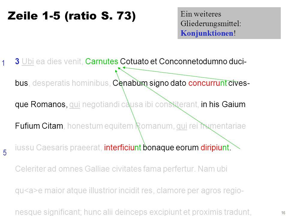 16 3 Ubi ea dies venit, Carnutes Cotuato et Conconnetodumno duci- bus, desperatis hominibus, Cenabum signo dato concurrunt cives- que Romanos, qui negotiandi causa ibi constiterant, in his Gaium Fufium Citam, honestum equitem Romanum, qui rei frumentariae iussu Caesaris praeerat, interficiunt bonaque eorum diripiunt.