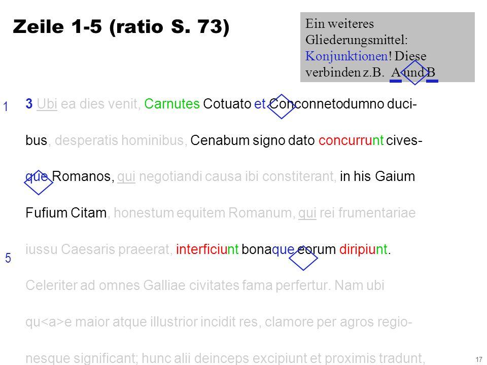 17 3 Ubi ea dies venit, Carnutes Cotuato et Conconnetodumno duci- bus, desperatis hominibus, Cenabum signo dato concurrunt cives- que Romanos, qui negotiandi causa ibi constiterant, in his Gaium Fufium Citam, honestum equitem Romanum, qui rei frumentariae iussu Caesaris praeerat, interficiunt bonaque eorum diripiunt.