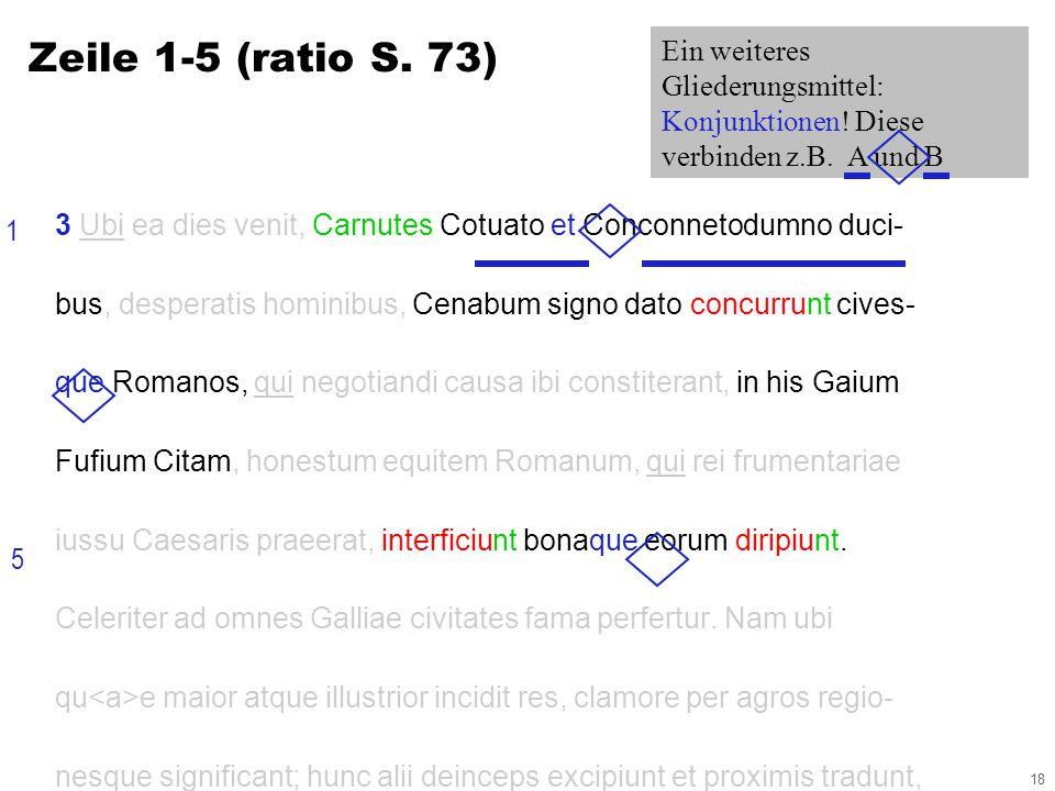 18 3 Ubi ea dies venit, Carnutes Cotuato et Conconnetodumno duci- bus, desperatis hominibus, Cenabum signo dato concurrunt cives- que Romanos, qui negotiandi causa ibi constiterant, in his Gaium Fufium Citam, honestum equitem Romanum, qui rei frumentariae iussu Caesaris praeerat, interficiunt bonaque eorum diripiunt.