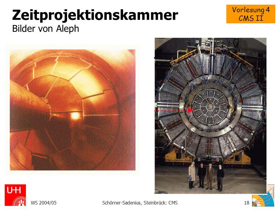 Vorlesung 4 CMS II WS 2004/05Schörner-Sadenius, Steinbrück: CMS18 Zeitprojektionskammer Bilder von Aleph Bla