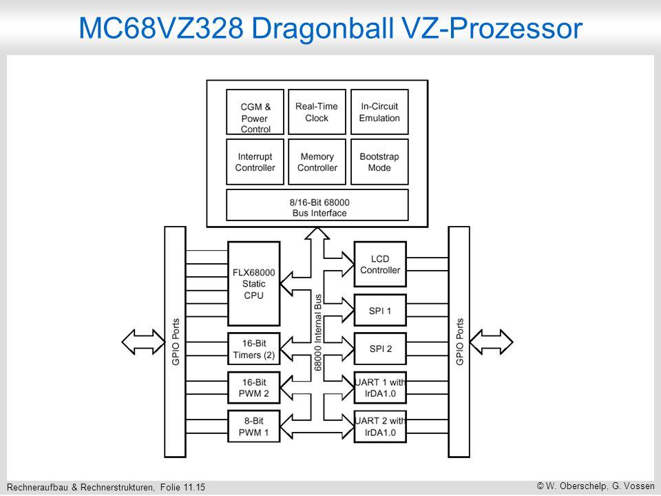 Rechneraufbau & Rechnerstrukturen, Folie 11.15 © W. Oberschelp, G. Vossen MC68VZ328 Dragonball VZ-Prozessor