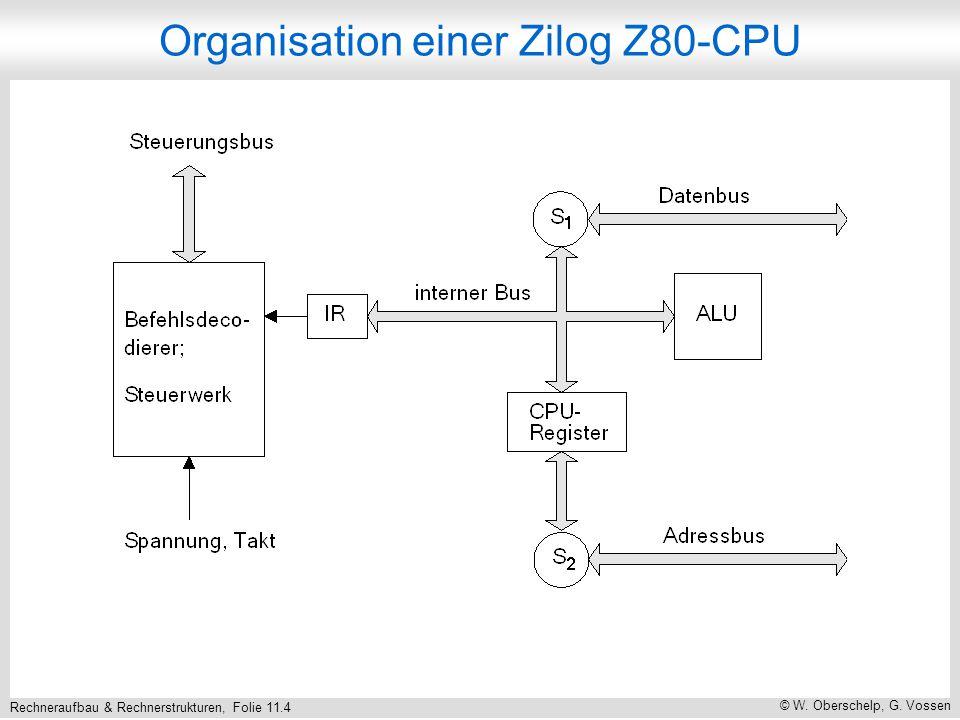 Rechneraufbau & Rechnerstrukturen, Folie 11.4 © W. Oberschelp, G. Vossen Organisation einer Zilog Z80-CPU