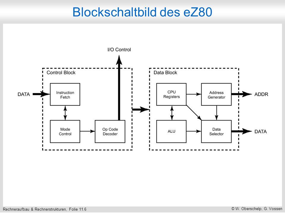 Rechneraufbau & Rechnerstrukturen, Folie 11.6 © W. Oberschelp, G. Vossen Blockschaltbild des eZ80