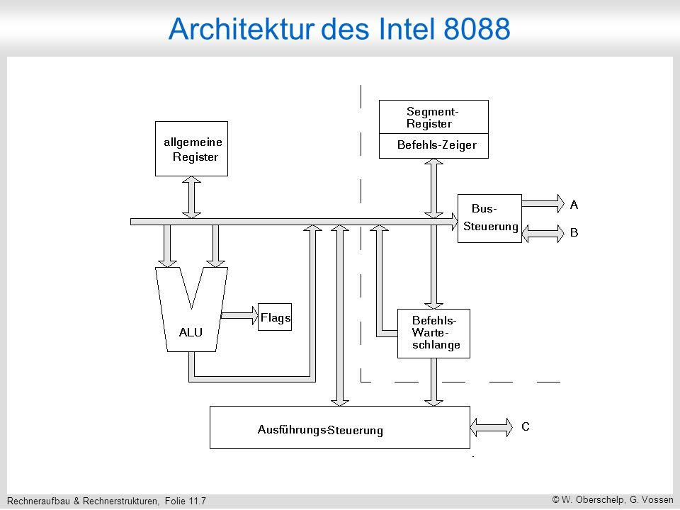 Rechneraufbau & Rechnerstrukturen, Folie 11.7 © W. Oberschelp, G. Vossen Architektur des Intel 8088