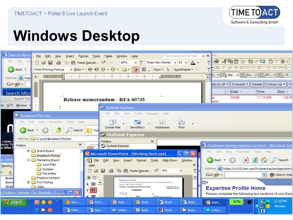 Windows Desktop TIMETOACT > Portal 6 Live Launch Event