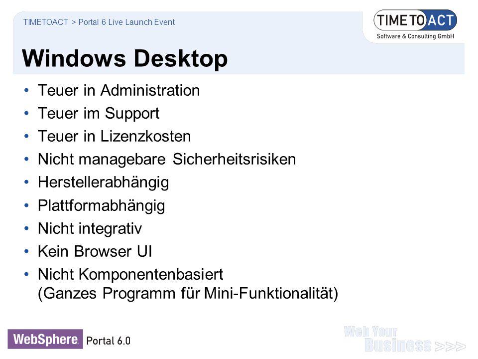 Windows Desktop Teuer in Administration Teuer im Support Teuer in Lizenzkosten Nicht managebare Sicherheitsrisiken Herstellerabhängig Plattformabhängi