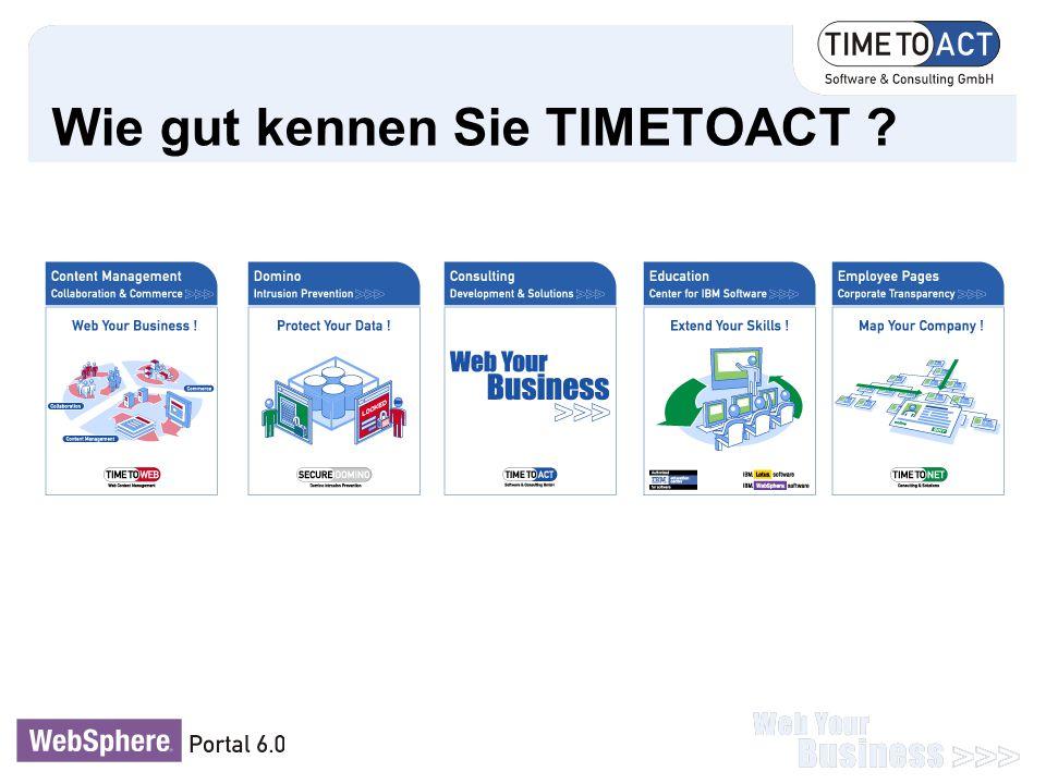 Wie gut kennen Sie TIMETOACT ?