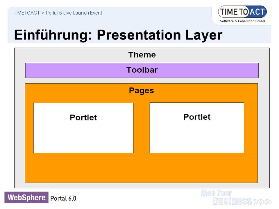 Einführung: Presentation Layer TIMETOACT > Portal 6 Live Launch Event