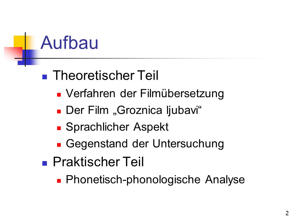3 Analyse der phonetisch- phonologischen Unterschiede Durchführung an allen gefundenen Beispielen Berechnung des Phoneminventars und der Wortvorkommnisse Vergleich mit den Korpora Unterstützung der Ergebnisse durch zusätzliche Literatur