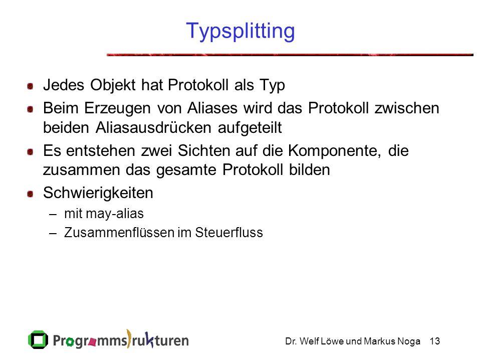 Dr.Welf Löwe und Markus Noga14 Beispiel Typsplitting...