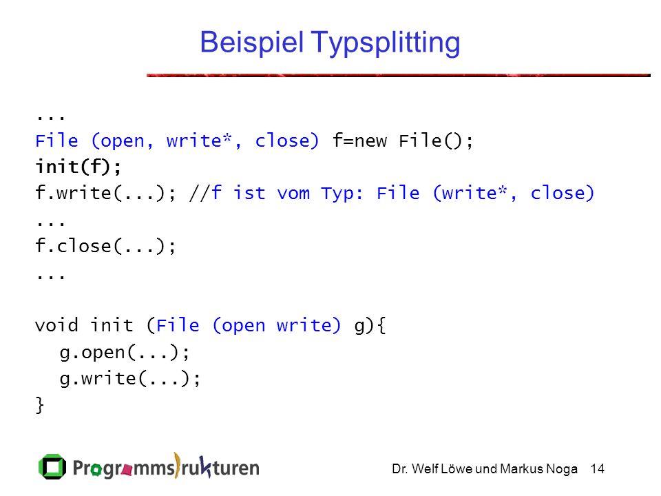 Dr.Welf Löwe und Markus Noga15 Problem... loop{ x=new K(); x.init(); x.doSome(); x.close(); }...