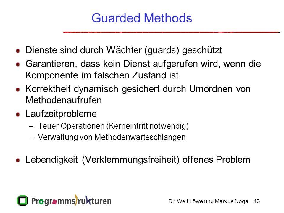 Dr.Welf Löwe und Markus Noga44 Kriterien Vollständige Spezifikation des Komponentenverhaltens.