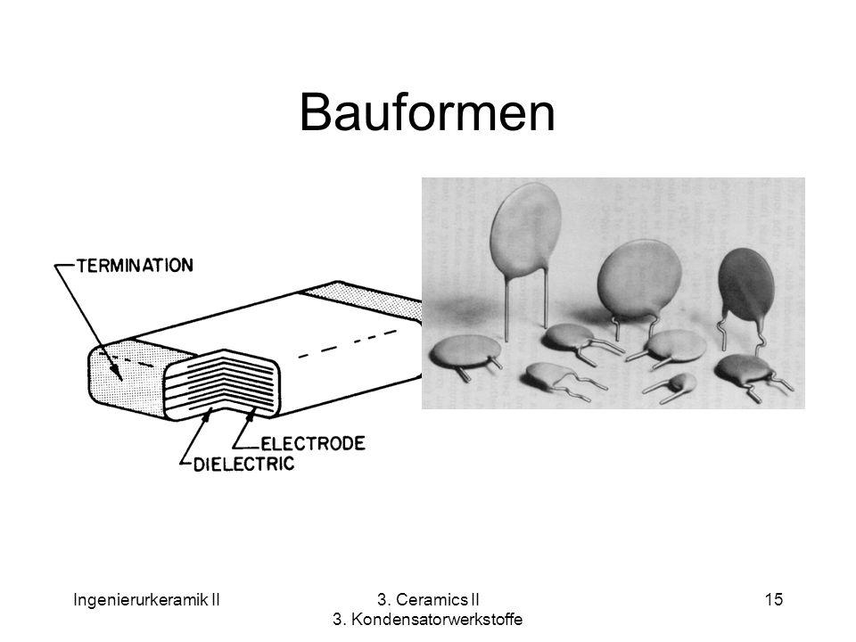Ingenierurkeramik II3. Ceramics II 3. Kondensatorwerkstoffe 15 Bauformen