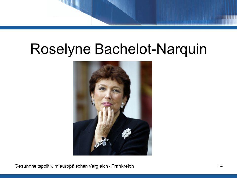 Gesundheitspolitik im europäischen Vergleich - Frankreich14 Roselyne Bachelot-Narquin