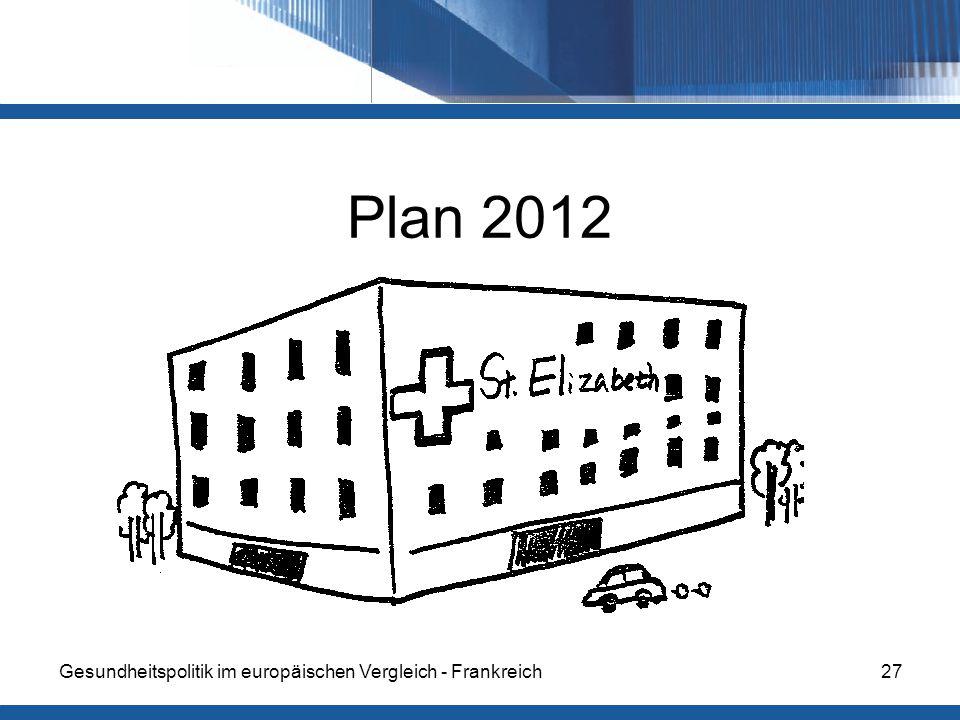 Gesundheitspolitik im europäischen Vergleich - Frankreich27 Plan 2012