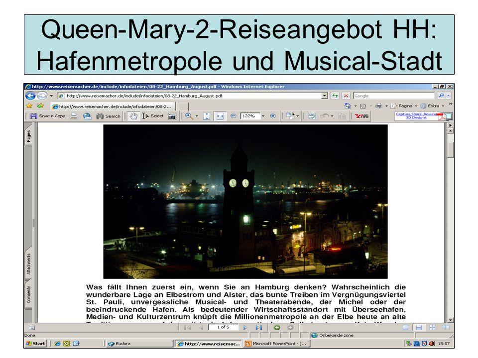Queen-Mary-2-Reiseangebot HH: Hafenmetropole und Musical-Stadt