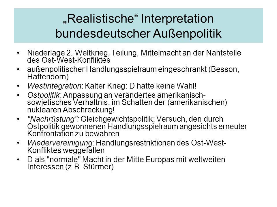 """""""Realistische Interpretation bundesdeutscher Außenpolitik Niederlage 2."""