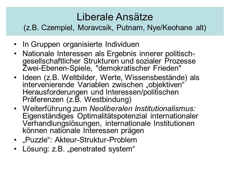 Liberale Ansätze (z.B.