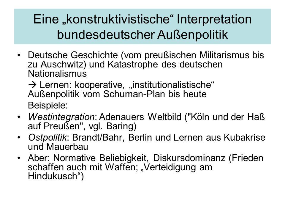 Akteursbasierte Modelle/ Idiographien Adenauer-Forschung Beispielsfolien Memoiren-basiert Problem des Narrationalismus/der oral history