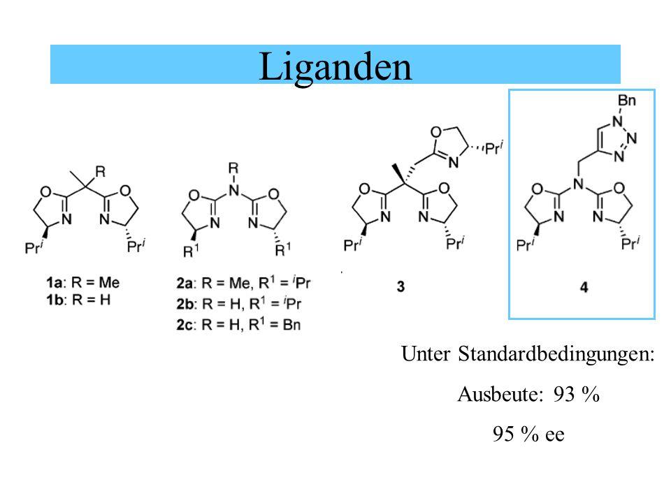 Liganden Unter Standardbedingungen: Ausbeute: 93 % 95 % ee