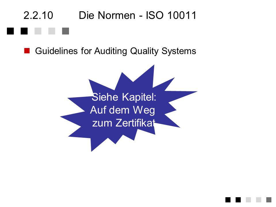 2.2.9Die Normen - ISO 9004 Teil 2 Modell zur Darlegung der Qualitätssicherung bei der Dienstleistungen