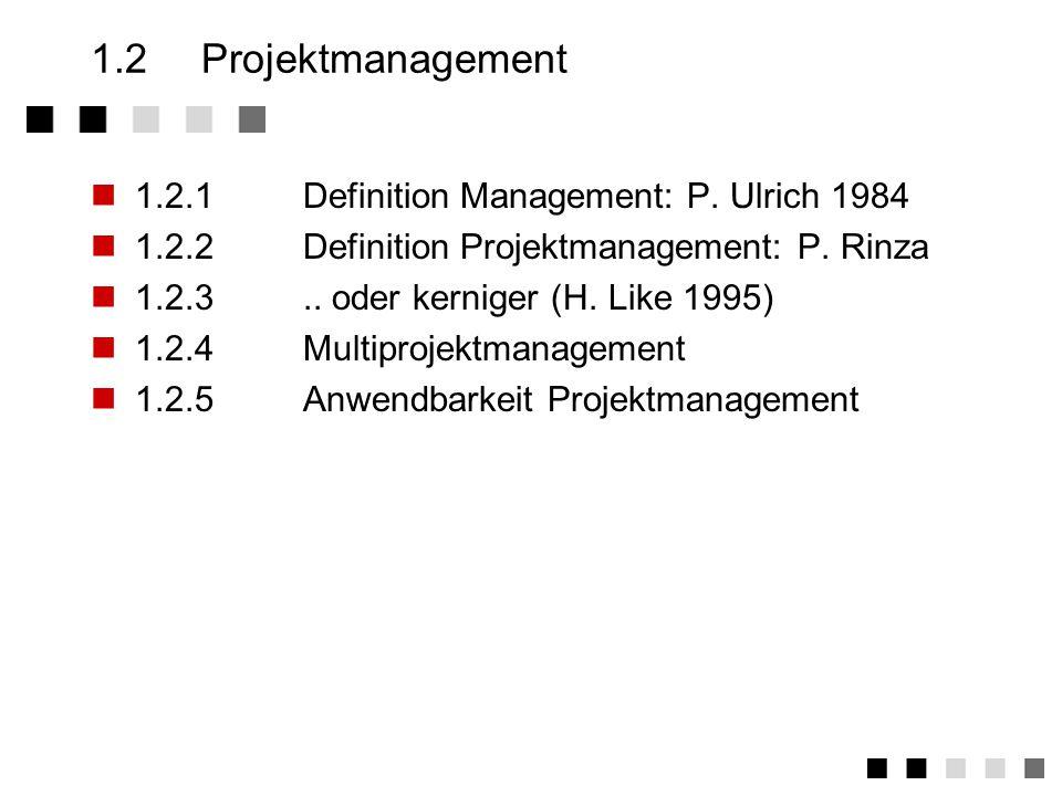 1.1.6Projektgröße MitarbeiterMannjahreMio DM Klein<6<0,4<0,1 Mittel6-500,4-500,1-10 Groß>50>50>10