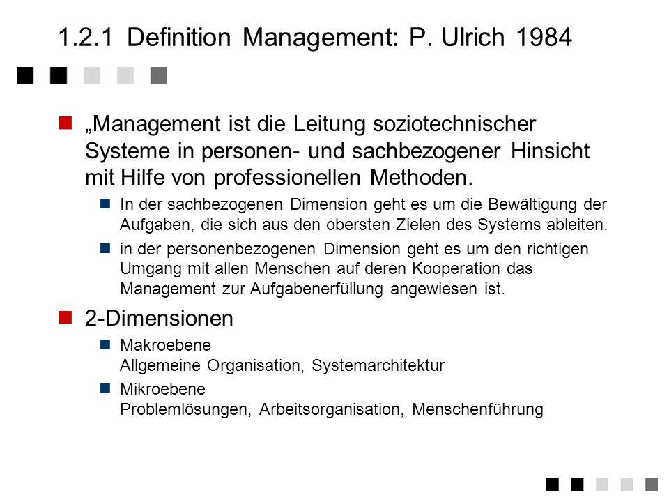 1.2Projektmanagement 1.2.1Definition Management: P.