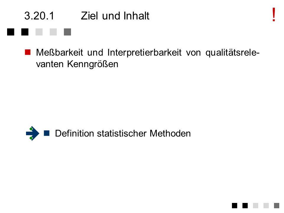 3.20Statistische Methoden Ziel und Inhalt Anforderungen der Norm Tätigkeiten