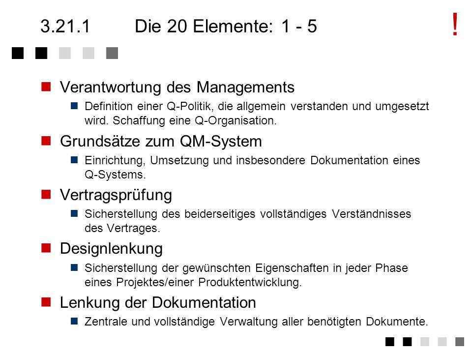 3.21Zusammenfassung des Kapitels Die 20 Elemente: 1-5 Die 20 Elemente: 6-10 Die 20 Elemente: 11-15 Die 20 Elemente: 16-20