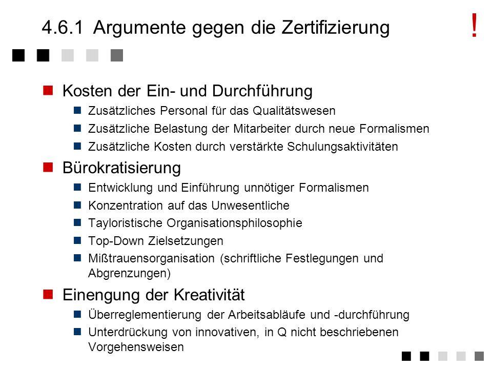 4.6Pros und Cons Argumente gegen die Zertifizierung Argumente für die Zertifizierung Schlussfolgerung