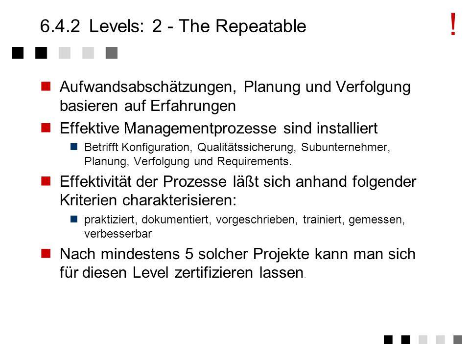 FHSymbol1 6.4.1Levels: 1 - The Initial Geplante Abläufe werden nicht eingehalten.