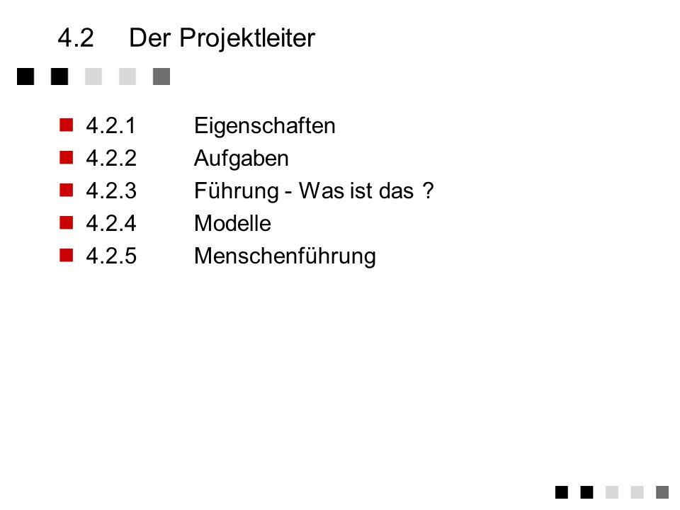 4.1Der Kontext Auftraggeber ManagementProjektleiter Projektgruppe