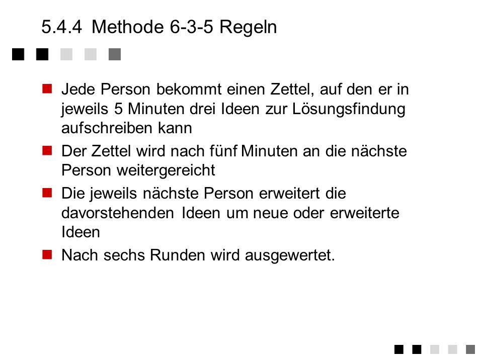 5.4.4Methode 6-3-5 (B.