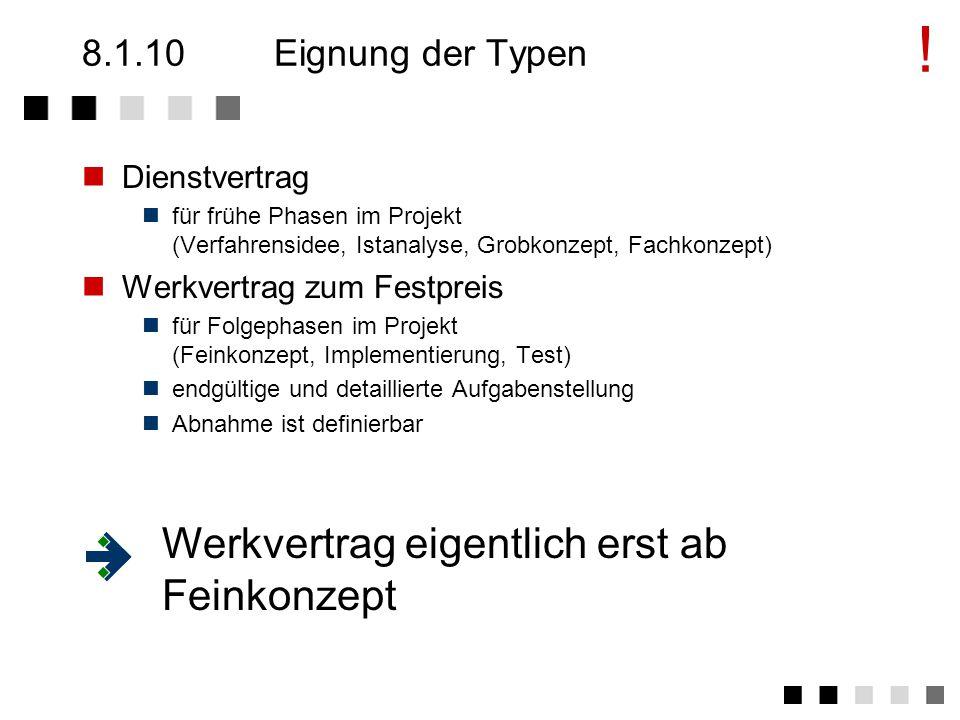 8.1.10Zusammenfassung der Typen Arbeitnehmer-DienstvertragWerkvertrag überlassung WegAN stelltAN unterstützt.AN erstellt...