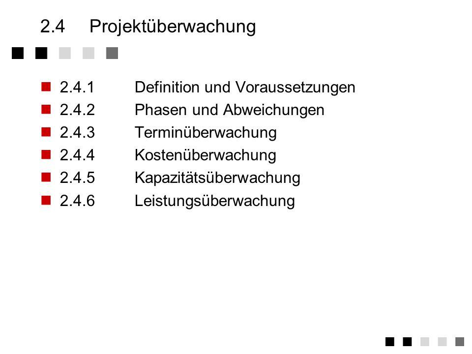 2.3.24Rechnerbasierte Planungsinstrumente Vorgangs- liste Netz plan PERT -View Critical Path GANTT -View