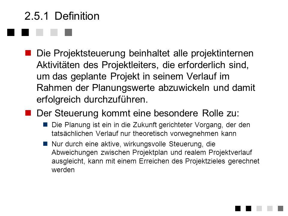 2.5Projektsteuerung 2.5.1Definition 2.5.2Wichtiges