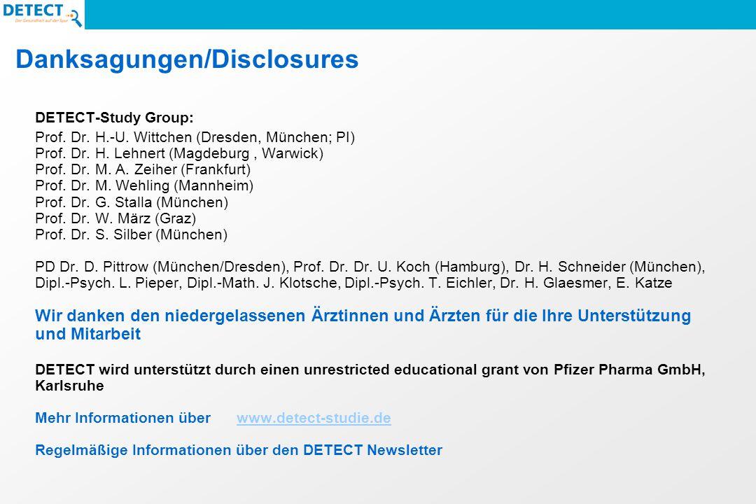 Danksagungen/Disclosures DETECT-Study Group: Prof.