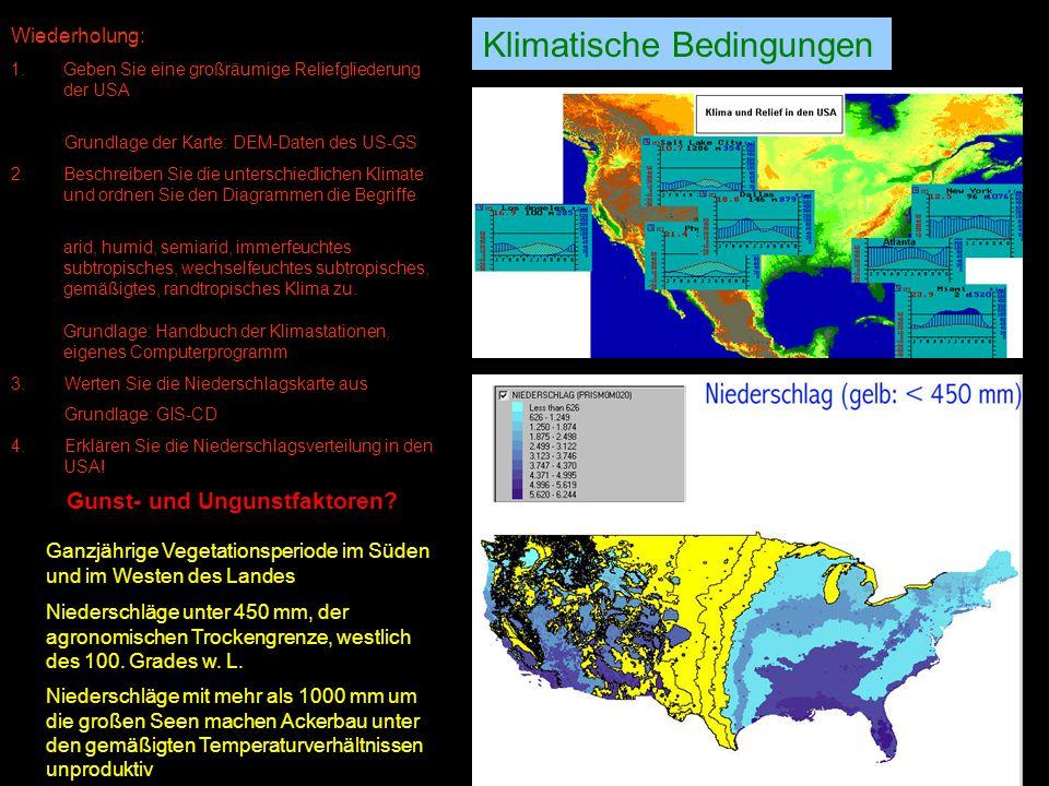 Landwirtschaft Klima Relief Boden Mensch Einflussfaktoren