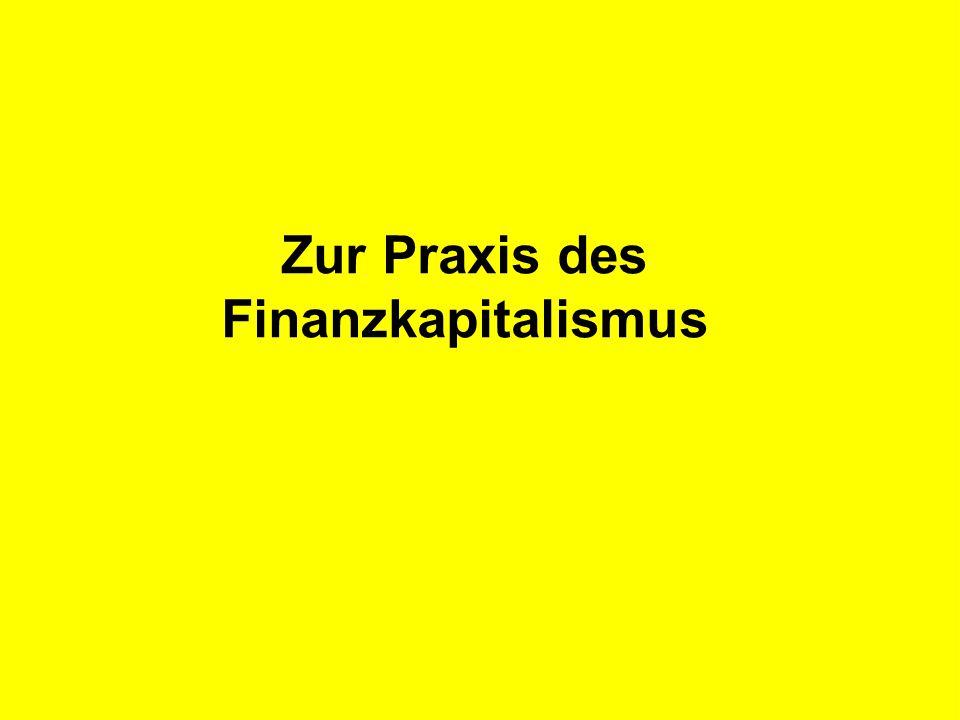 R Z B - M A R K E T I N G Zur Praxis des Finanzkapitalismus