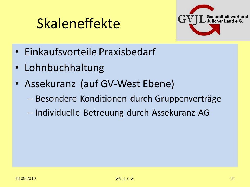 Skaleneffekte Einkaufsvorteile Praxisbedarf Lohnbuchhaltung Assekuranz (auf GV-West Ebene) – Besondere Konditionen durch Gruppenverträge – Individuell